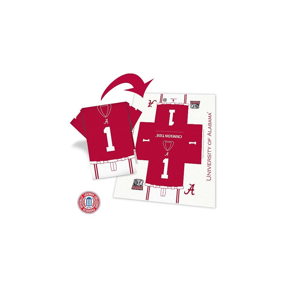 Alabama Crimson Tide Football Jersey 8 Pack Napkins   Set Of 3