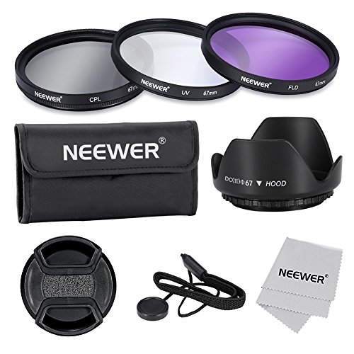 Neewer® 67mm Professional Lens Filter Accessory Kit for Canon Nikon Sony Samsung Fujifilm Pentax and Other DSLR Camera Lenses with Filter Thread - Includes Filter Kit (UV, CPL, FLD) + Filter Carry Pou