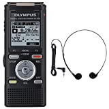 Olympus WS-833 Digital Dictation Machine Voice Recorder 8GB with USB Stick & MP3 Player + EXTRA FREE Olympus E-102 PC Stereo Headset