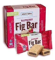 Nature\'s Bakery Gluten Free Fig Bars, Raspberry, Vegan + Non-GMO, 6 count (Pack of 12)