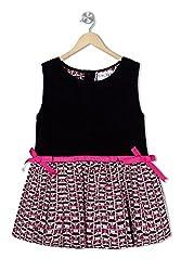 Soulfairy Girls' Dress (SS16-DRSNAU-211_Black_3-4 Years)