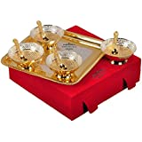 Festival Gift Gold And Silver Plated Brass Bowls Set Of 9 Pcs From The House Of IndianCraftVilla . Can Be Use...