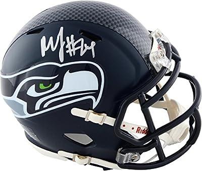 Marshawn Lynch Seattle Seahawks Autographed Riddell Speed Mini Helmet - Fanatics Authentic Certified