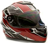 Adult Full Face Helmet Motorcycle Red XLarge