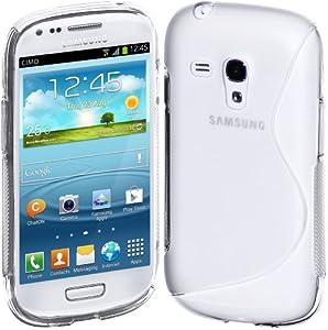 Cimo S-Line Back Case Flexible TPU Cover for Samsung Galaxy S III mini - Clear