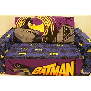 Batman Flip Open Toddler Sofa with removable cover
