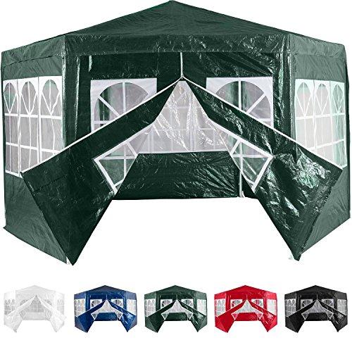 pavillon 6 eck wasserdicht 6 seitenteile mit fenster 1x mit rei verschluss farbwahl inkl. Black Bedroom Furniture Sets. Home Design Ideas