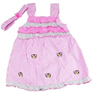 Coney Island Toddler Girls 2-4T Pink Butterfly Sundress with Headband