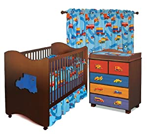 Room Magic Nursery Set, Boys Like Trucks