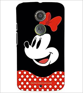 PrintDhaba Minnie Mouse D-2438 Back Case Cover for MOTOROLA MOTO X2 (Multi-Coloured)