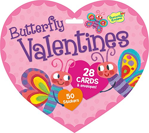 Find Discount Peaceable Kingdom / Valentine Heart Pack Butterfly Cards & Stickers