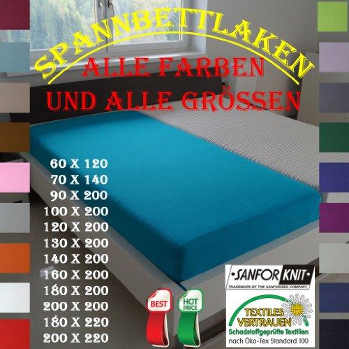 Jersey Spannbetttuch / Farbe: Weiß / Grösse: 60 cm x 120 cm - 70 cm x 140 cm