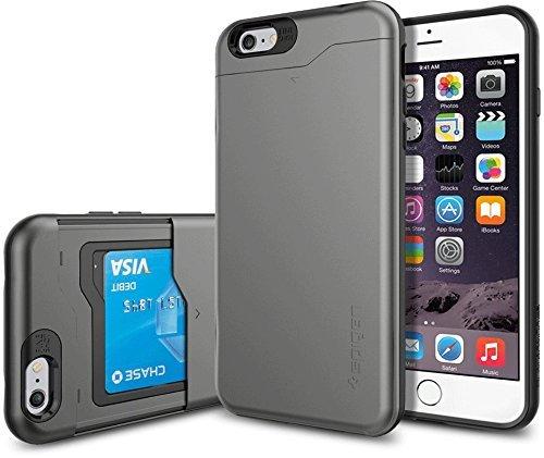 iPhone 6 Plus ケース, Spigen® [ スリム+保護力+個性 ] スリム アーマーCS Apple iPhone (5.5) アイフォン 6 プラス カバー **カード スライダー** (国内正規品) (ガンメタルSGP10910)