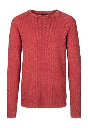 !Solid Knit - Stanley-Felpa Uomo    rosso 2XL