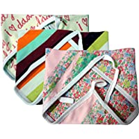 Kidbee New Born Baby Hosiery Cloth Nappy Multi Color Set Of 3d [0-6MONTHS]