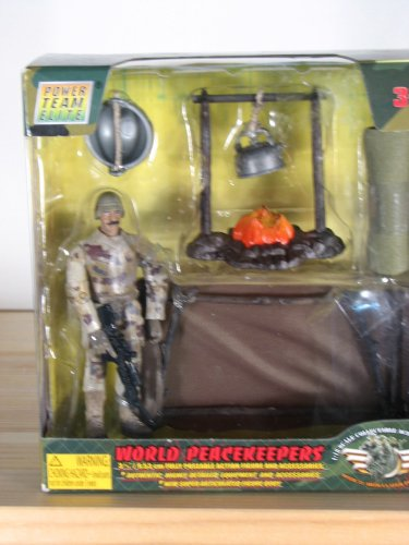 Buy Low Price Power Team Elite World Peacekeepers Campfire Figure (B003LLY100)