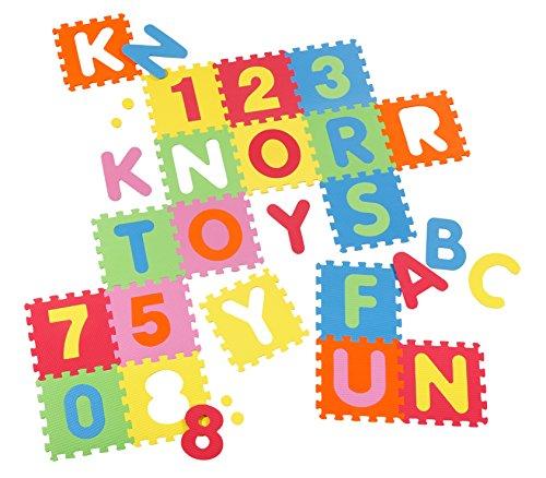 Knorrtoys 21004-Puzzle alfombrillas letras y números, 36piezas
