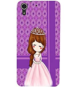 PrintDhaba Cute Doll D-2784 Back Case Cover for HTC DESIRE 728 (Multi-Coloured)
