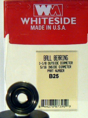 51HujahJWSL WHITESIDE MACHINE B5 REPLACEMENT BALL BEARINGS 7/8 OD X 5/16 ID