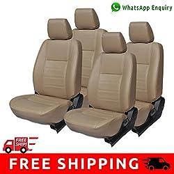 Autofact Brand PU Leatherite Car Seat Covers for Maruti Car 800 Old Model in Full Beige