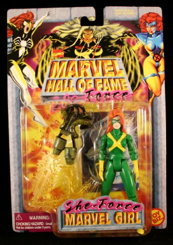 MARVEL GIRL Marvel Comics Hall Of Fame SHE-FORCE Series 1997 Action Figure and Collector Trading Card - 1