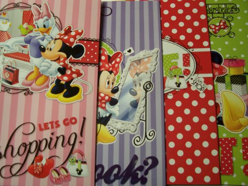 Disney Minnie Mouse Bow-tique 4 Folder Set ~ Let's Go Shopping, How Do I Look, Loves to Shop, All Shopped Out