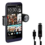 Kwmobile® one-armed UNIVERSAL CAR HOLDER FOR THIS HTC Desire 510 in Black - Mobile phone fits into mount with case or cover!