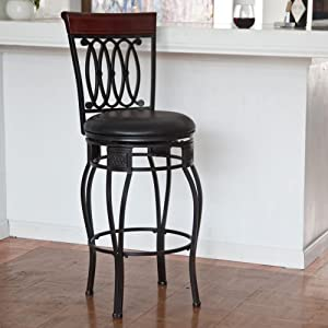 Hillsdale Furniture Hillsdale Montello 25 in. Swivel Counter Stool -, Black, Metal