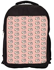 Snoogg Cute Kitty Formation Backpack Rucksack School Travel Unisex Casual Canvas Bag Bookbag Satchel
