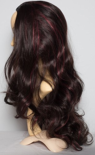 22-3-4-wig-wavy-darkest-brown-red-highlights