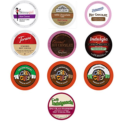 Hot Cocoa and Chocolate Variety Sampler Pack for Keurig K-Cup Brewers, 10 Count (Keurig Hot Chocolate Sampler compare prices)