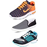 Tempo Men's Combo Pack Of 3 Footwear (2 Sports Shoes & 1 Loafers)
