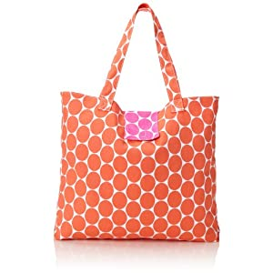 Echo Design Women's Malibu Dots Reversible Beach Tote Bag, Coral/Hot Pink, One Size