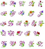 Oesd Brother Embroidery Machine Card Floral Alphabet Ii
