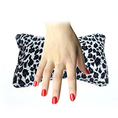 Culater® Knochenform Nageldesign Leopard Kissen Spalte Schwamm Hand Kissen Dunkelgrau