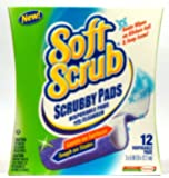 Soft Scrub Scrubby Pads, Disposable Pads with Cleanser, 12 Ct (Pack of 6) Total 72 Pads
