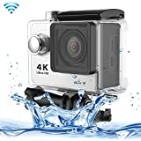 SUNSKY H9 4K Ultra HD1080P 12MP 2 Inch LCD Screen WiFi Sports Camera 170 Degrees Wide Angle Lens 30m Waterproof...
