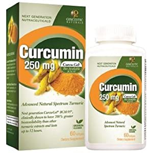 Curcumin, 250 mg, 60 Softgels (12 Pack)