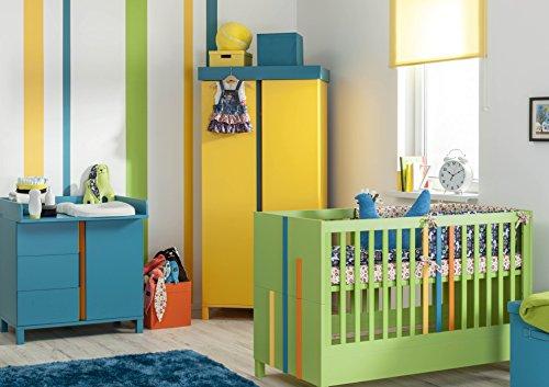 Babyzimmer kinderzimmer rainbow bunt, komplettset, bett schrank ...