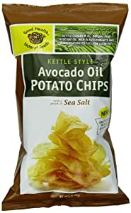 Good Health Avocado Chips Sea Salt, 5-Ounce Bags (Pack of 12)