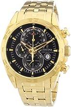 Comprar Festina F16656/5 - Reloj cronógrafo de cuarzo para hombre, correa de acero inoxidable chapado color dorado (cronómetro, agujas luminiscentes)