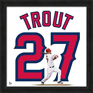 Mike Trout Los Angeles Angels Of Anaheim 20X20 Uniframe Photo by Photo File