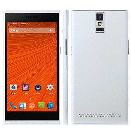 C1000 Smartphone Android 4.4 Mtk6582 5.5 Inch 1Gb 8Gb 3G Otg Finger Scanner White