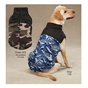 Casual Canine Polyester Camo Dog Vest, Small/Medium, 14-Inch, Green