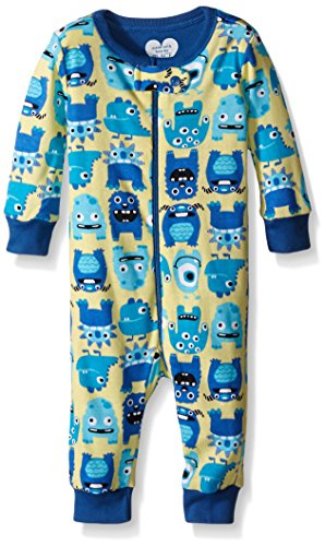 The Children's Place Baby Monster Sleep Stretchie, Yellow Bean, 6-9 Months