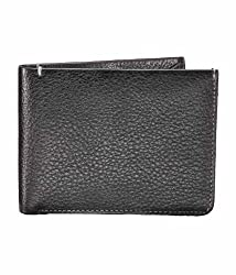 RL W 29 - Blk Leather Wallet (Black)