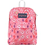 """JanSport Superbreak Backpack - Pink Pansy Bali Botanical / 16.7""""H x 13""""W x 8.5""""D"""