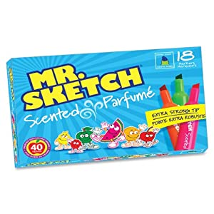 Mr. Sketch 20071 Assorted Scented Water Color Markers, Set of 18
