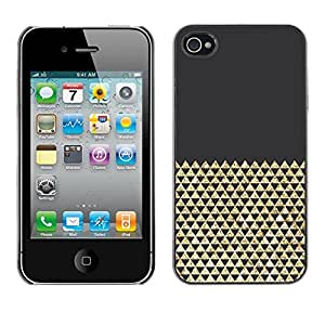 Omega Covers - Snap on Hard Back Case Cover Shell FOR Apple iPhone 4 / 4S - Bling Shiny Pattern Polygon