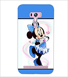 PrintDhaba Minnie Mouse D-1300 Back Case Cover for ASUS ZENFONE SELFIE ZD551KL ULTRA (Multi-Coloured)